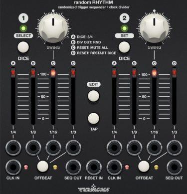 Softube Modularがアップデート!〜MIDI Step SequencerとVermona Random Rhythmが追加される