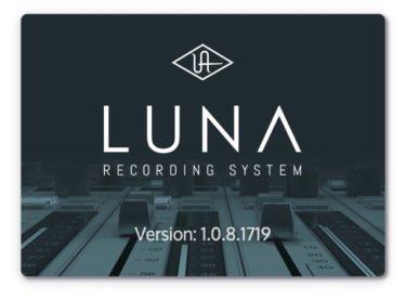 Universal Audio LUNA 1.0.8アップデート来た!